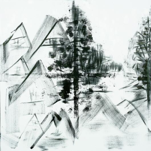 简单的西方园林铅笔画
