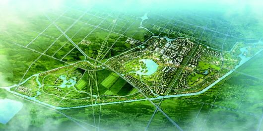 △建设中的马颊河生态岛,旨在打造京津冀生活休闲后花园,全国知名滨河