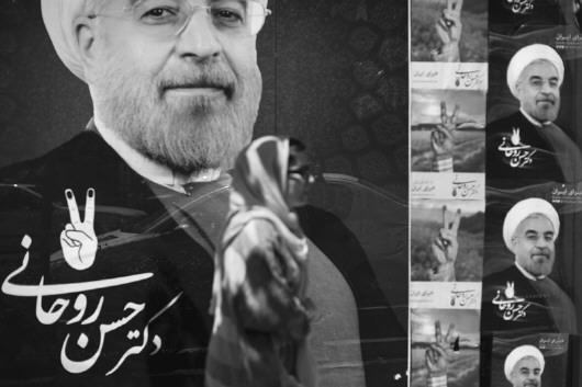 华社发    伊朗内政部20日宣布,现任总统鲁哈尼在伊朗第12届总统选