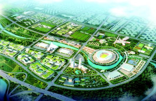 沾化区富国街道——滨州国际足球运动小镇建设规划效果图-融入滨州
