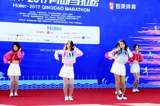 青岛国际马拉松一路欢歌动起来