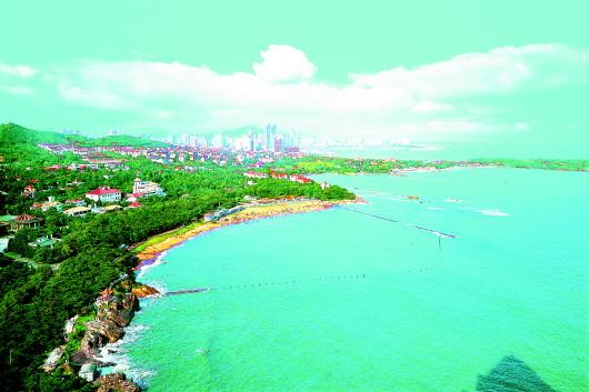 作为我国首批沿海开放城市,青岛的对外开放程度越来越高.(资料图)