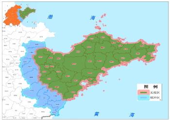 胶东半岛区域区划图