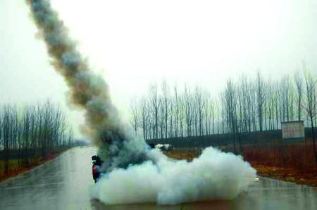 百枚火箭弹人工降雨