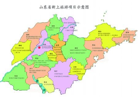 儿童手绘地图 青岛