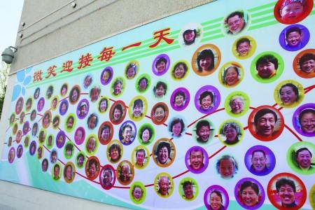 居民笑脸墙亮相烟厂社区 看看谁笑得好看喜庆图片