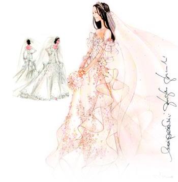 服装设计师的设计图